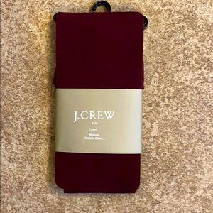 J. Crew maroon tights